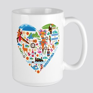 Argentina World Cup 2014 Heart Large Mug