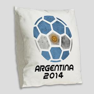 Argentina World Cup 2014 Burlap Throw Pillow