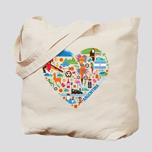 Argentina World Cup 2014 Heart Tote Bag
