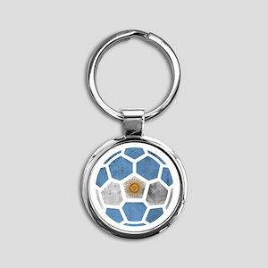 Argentina World Cup 2014 Round Keychain