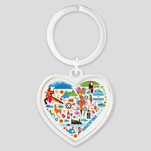 Argentina World Cup 2014 Heart Heart Keychain