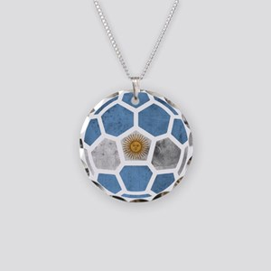 Argentina World Cup 2014 Necklace Circle Charm