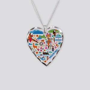 Argentina World Cup 2014 Hear Necklace Heart Charm