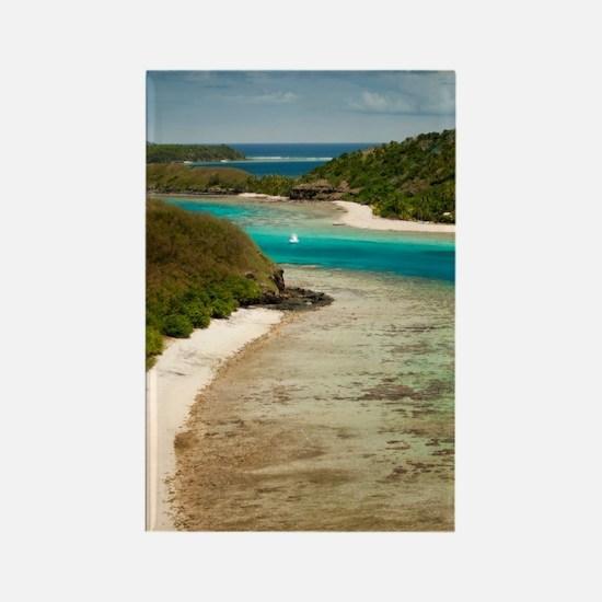 Mantaray island resort, Fiji Rectangle Magnet