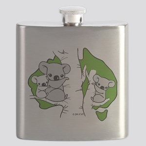 Koala Bears (green) Flask