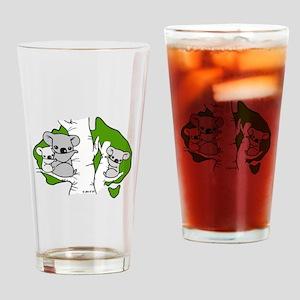 Koala Bears (green) Drinking Glass