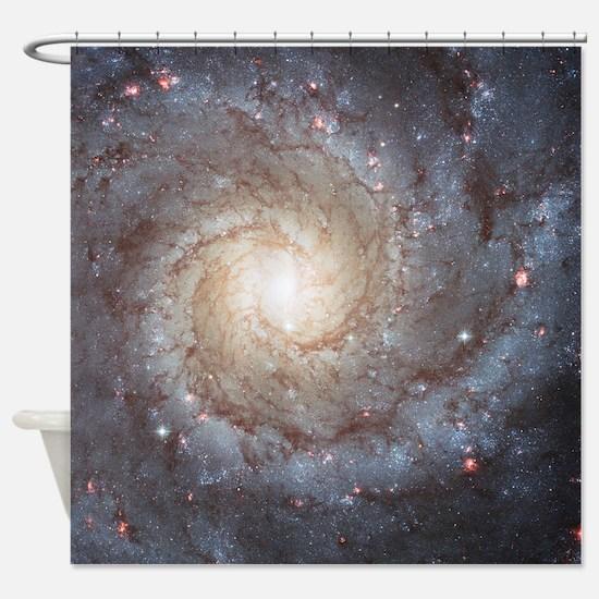 Spiral Galaxy M74 Astronomy Shower Curtain
