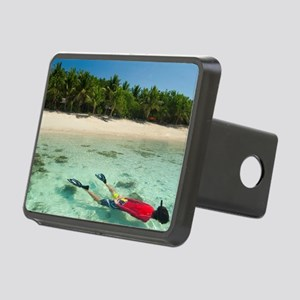Snorkeller off a tropical  Rectangular Hitch Cover