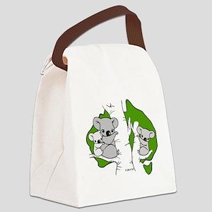 Koala Bears (green) Canvas Lunch Bag