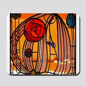 Charles Rennie Mackintosh Stained Glass Mousepad