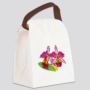 Pink Cattleya Orchid Canvas Lunch Bag