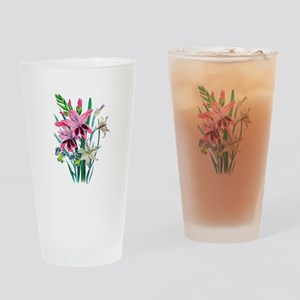 Pink and White Gladiolas by Loudon Drinking Glass