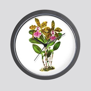 Tropical Cattleya Orchid by Lindenia Wall Clock