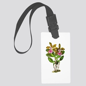 Tropical Cattleya Orchid by Lind Large Luggage Tag