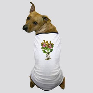 Tropical Cattleya Orchid by Lindenia Dog T-Shirt