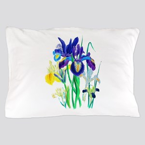 Blue and Yellow Iris by Loudon Pillow Case