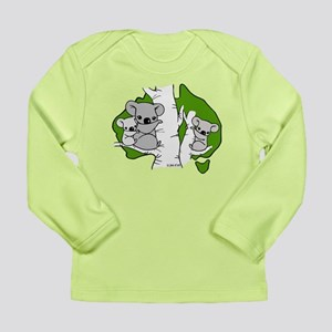 Koala Bears (green) Long Sleeve Infant T-Shirt