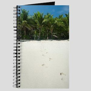Footprints across a tropical beach Journal