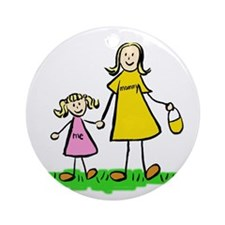 Mother and Daughter (Blond) Ornament (Round)