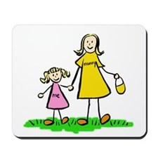 Mother and Daughter (Blond) Mousepad