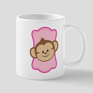Cute Pink Monkey Mugs