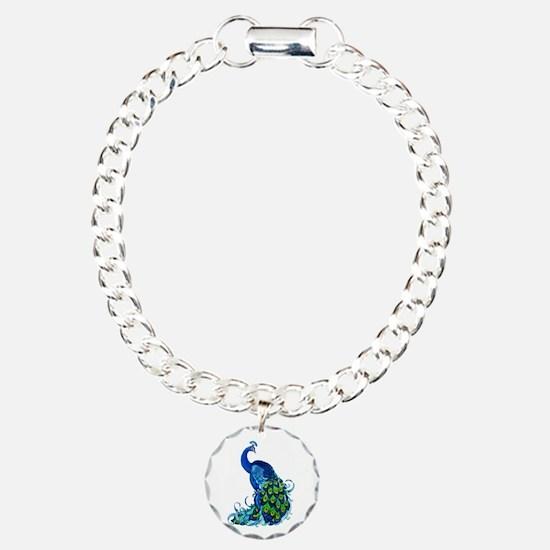Beautiful Blue Peacock Bracelet