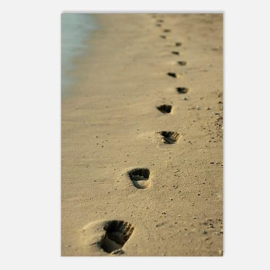 Footprints alongside the  Postcards (Package of 8)