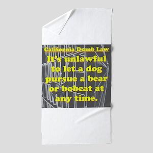 California Dumb Law 001 Beach Towel