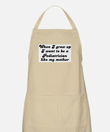 Pediatrician like my mother BBQ Apron