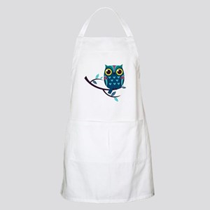 Dark Teal Owl Apron