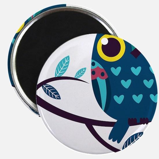 Dark Teal Owl Magnets