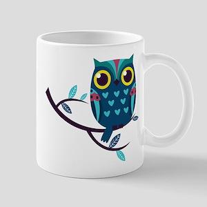 Dark Teal Owl Mugs