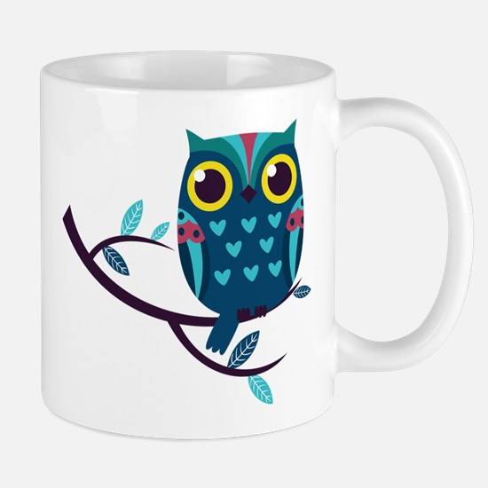 Dark Teal Owl Mugs