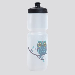 Dark Teal Owl Sports Bottle