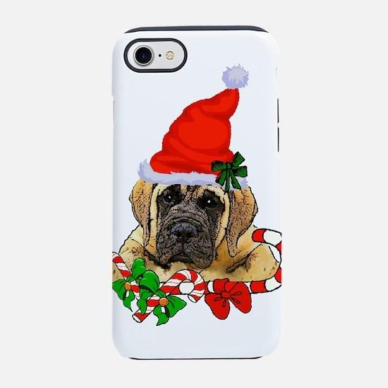 english mastiff christmas iPhone 7 Tough Case