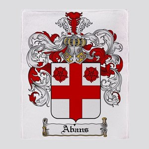 Abans coat of arms / family crest Throw Blanket