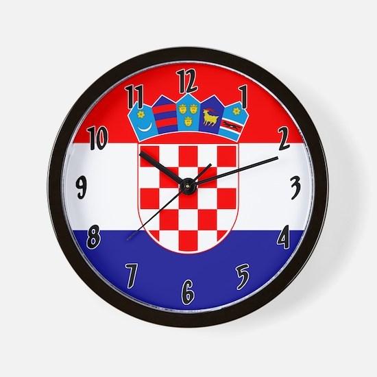 Flag Of Croatia Wall Clock