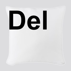Dele (Delete) Keyboard Key Woven Throw Pillow