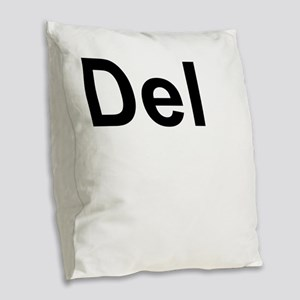 Dele (Delete) Keyboard Key Burlap Throw Pillow