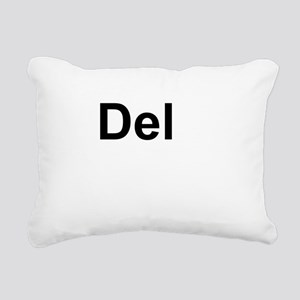 Dele (Delete) Keyboard Key Rectangular Canvas Pill