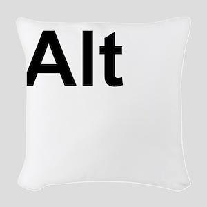 Alt (Alternate) Keyboard Key Woven Throw Pillow