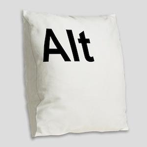 Alt (Alternate) Keyboard Key Burlap Throw Pillow