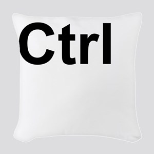 Ctrl Control Keyboard Key Woven Throw Pillow