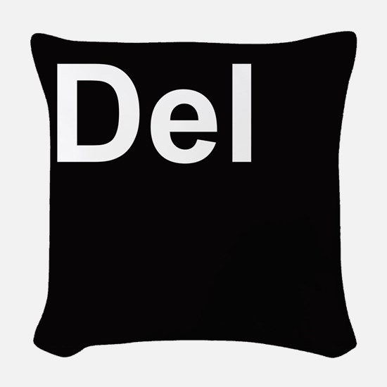 del2 Woven Throw Pillow
