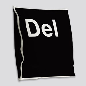 del2 Burlap Throw Pillow