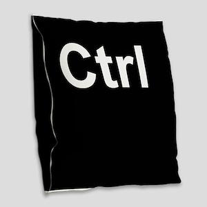 ctrl2 Burlap Throw Pillow