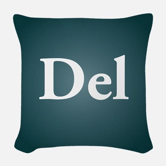 del3 Woven Throw Pillow