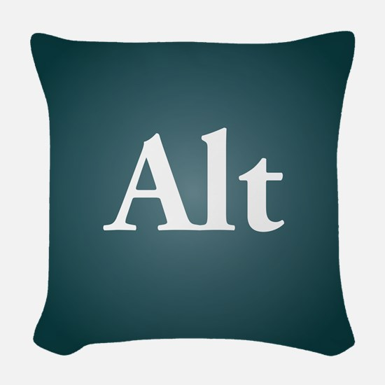 alt3 Woven Throw Pillow