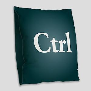 ctrl3 Burlap Throw Pillow