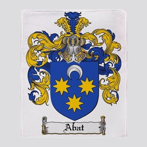 Abat coat of arms / family crest Throw Blanket